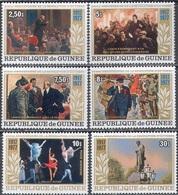 3372 ✅ Art Painting Lenin Revolution Pushkin Ballet 1978 Guinea 6v Set MNH ** 13ME - Lenin