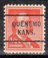 USA Precancel Vorausentwertung Preo, Locals Kansas, Quenemo 712 - Vereinigte Staaten