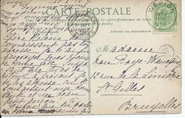 Fantasiekaart Met OCB 81 -afstempeling WEPION - COBA 10 - 1893-1907 Armoiries