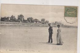 CPA-50-Manche- BARNEVILLE- La Plage Et Les Villas- - Barneville