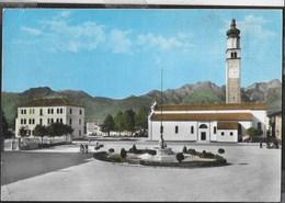 VENETO - LENTIAI (BL) - LA PIAZZA - FOTO GHEDINA CORTINA - VIAGGIATA 1965 - ANNULLO CONALBI POSTE LENTIAI - Italia
