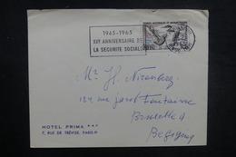 TERRES AUSTRALES ET ANTARCTIQUES - Enveloppe De Paris Pour La Belgique En 1965, Affranchissement TAAF - L 37813 - Briefe U. Dokumente