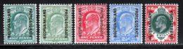 Bechuanaland 1904 Yvert 22 / 26 * TB Charniere(s) - Bechuanaland (...-1966)
