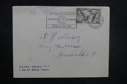 FRANCE - Enveloppe D'Hôtel De Paris Pour La Belgique En 1965, Affranchissement T.A.A.F. - L 37820 - Storia Postale