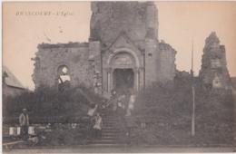 Bv - Cpa BRANCOURT (Aisne) - L'Eglise (cachet  Escadron Du Train, 824è Compagnie, Franchise Militaire) - Altri Comuni