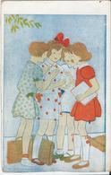 Schoolmeisjes Staan Te Praten -  School Girls  -  Ill. W. Schermelé - A921 - Schermele, Willy