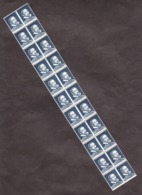 Roulette De 11 De Pa44 (bleu Foncé) Palissy Double Effigie - Neuf ** - 2 N° Bleu Au Verso - Probedrucke