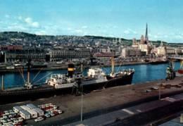 CPSM - ROUEN - VUE GALE SU LES QUAIS ...(cargo) - Edition ... - Rouen