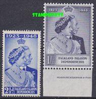 Falkland Islands Dependencies 1948 Silver Wedding 2v * Mlh  (20747) - Zuid-Georgia