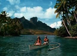 CPSM - BORA-BORA - PIROGUE SUR LE LAGON ... - Edition ... - Tahiti