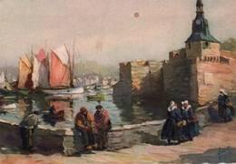 CPSM - ILLUSTRATION YVON - CONCARNEAU - LA VILLE CLOSE ET LE PORT ... - Bretagne