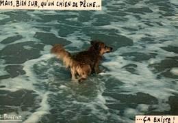 CPSM - PHOTO & LEGENDE Louis BUFFIER - CHIEN Dans L'eau - N°121 ... - Illustrateurs & Photographes