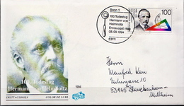 Germany Stamp On Used FDC - Physics