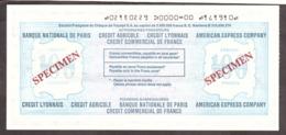 SPECIMEN - Chèque De Voyage En Francs Français - Travelers Cheque - 100 Frans - American Express - Chèques & Chèques De Voyage