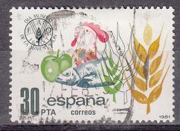 SPANJE - Michel - 1981 - Nr 2512 - Gest/Obl/Us - 1931-Aujourd'hui: II. République - ....Juan Carlos I