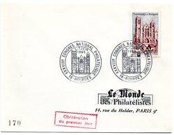 RELIGION CATHOLIQUE = 18 BOURGES 1965 = CACHET CACHET PREMIER JOUR Illustré = CONGRES NATIONAL + N° 1453 - 1960-1969
