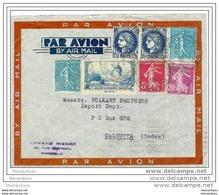 145 - 29 - Lettre De 1938 Envoyée De Marseille à Calcutta (Inde) - Poststempel (Briefe)