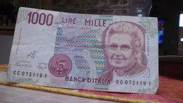 1000 Lire -1990- Montessori Numéro  CC 072119 F - 1 000 Lire