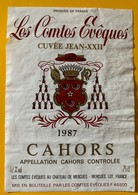 11317 - Les Comtes Evêques Cuvée Jean-XXII 1987 - Cahors