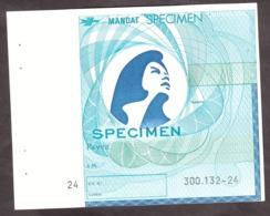 SPECIMEN - Mandat - Marianne - Cours D'instruction - Cours D'Instruction
