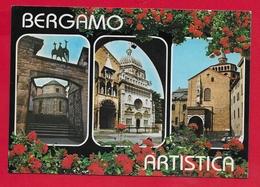 CARTOLINA VG ITALIA - BERGAMO Artistica - Vedutine Multivue - 10 X 15 - 1985 PONTE NOSSA - Bergamo