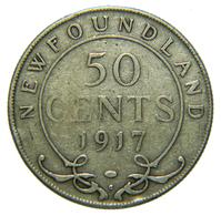 [NC] CANADA - NEWFOUNDLAND - 50 CENTS - ARGENTO 925 - 1917 (nc4436) - Canada