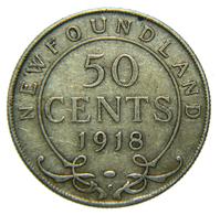 [NC] CANADA - NEWFOUNDLAND - 50 CENTS - ARGENTO 925 - 1918 (nc4437) - Canada