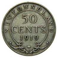 [NC] CANADA - NEWFOUNDLAND - 50 CENTS - ARGENTO 925 - 1919 (nc4438) - Canada