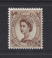 """GB.."""" WILDING """"..QUEEN ELIZABETH II.(1952-NOW).."""" PRE-DECIMAL """"....5p.....SG522.....MNH. - 1952-.... (Elizabeth II)"""