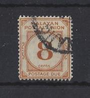 "MALAYA..."" POSTAGE DUE.""...KING GEORGE VI.(1936-52)...8c....SGD19.......(CAT £8...)...MH. - Malayan Postal Union"