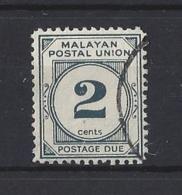"MALAYA..."" POSTAGE DUE.""...KING GEORGE VI.(1936-52)...2c....SGD15a.......(CAT £24...)..VFU. - Malayan Postal Union"