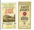 2 Etiquettes  Rhum  Agricole Grappe Blanche Supérieure 50 Et 70cl  - 50% - SAINT JAMES  -  Ste Marie -  MARTINIQUE - - Rhum