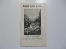 VIEUX PAPIERS - HORAIRE DU TRAMWAY D'Annecy à Thones - Europe