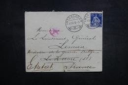 SUISSE - Enveloppe De Interlaken Pour Le Ministère De La Guerre Belge Au Havre , Redirigé Vers Etretat En 1918 - L 37872 - Marcophilie