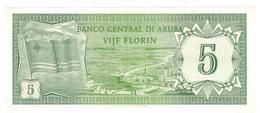 Aruba, 5 Florin, P-1 UNC - Aruba (1986-...)
