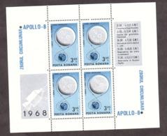 Roumanie - 1969 - BF 70 - Neuf * - Apollo 8 - Blocks & Sheetlets