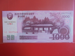 COREE(NORD) 1000 WON 2008 PEU CIRCULER/NEUF - Corée Du Nord