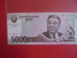 COREE(NORD) 5000 WON 2008 PEU CIRCULER/NEUF - Corée Du Nord