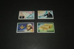 K22573 - Set MNH Barbados 1976 -  American Revolution Bicentennial - Washington - Célébrités