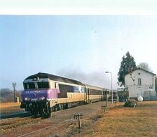 Ussel Cedex - En Tete Du Train Dominical Ussel Paris Austerlitz   - Train      D 1446 - Trains