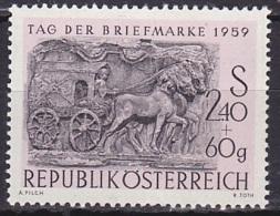 Austria/1959 - Stamp Day/Tag Der Briefmarke - 2.40 S + 80 Gr - MNH - 1945-.... 2. Republik