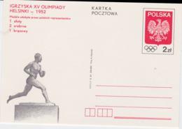 Poland Postal Stationary 1952 Helsinki Olympic Games - Mint From 1981 (G101-13) - Sommer 1952: Helsinki