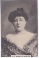 Mme ARLETTE DUCLOS -  Gaité Rochechouart - Dos Simple 1904 - Artistes