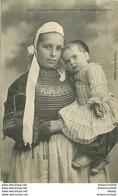 WW LA BRETAGNE 22. 29. 56. Environs De Pont-L'Abbé Femme Et Enfant De Loctudy 1916 - Bretagne