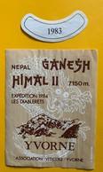 11335  -  Nepal Ganesh Himal II Expédition Les Diablerets 1984  Suisse Yvorne 1983 - Bergen