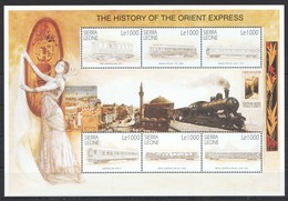 K1131 SIERRA LEONE RAILWAY TRANSPORT TRAINS THE HISTORY OF THE ORIENT EXPRESS 1KB MNH - Trains