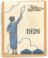 Petit Carnet / Calendrier 1926, Crème Eclipse, Fulgor, Avion - Publicités