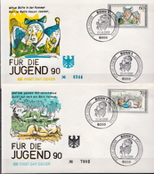 Germany Set On 2 FDCs From 1990 - Fairy Tales, Popular Stories & Legends