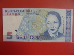 KIRGHIZISTAN 5 SOM 1997 PEU CIRCULER/NEUF - Kirgisistan
