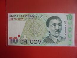 KIRGHIZISTAN 10 SOM 1997 PEU CIRCULER/NEUF - Kirgisistan